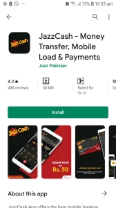 jazz cash application for payoneer money widraw