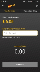 jazz cash link to payoneer account